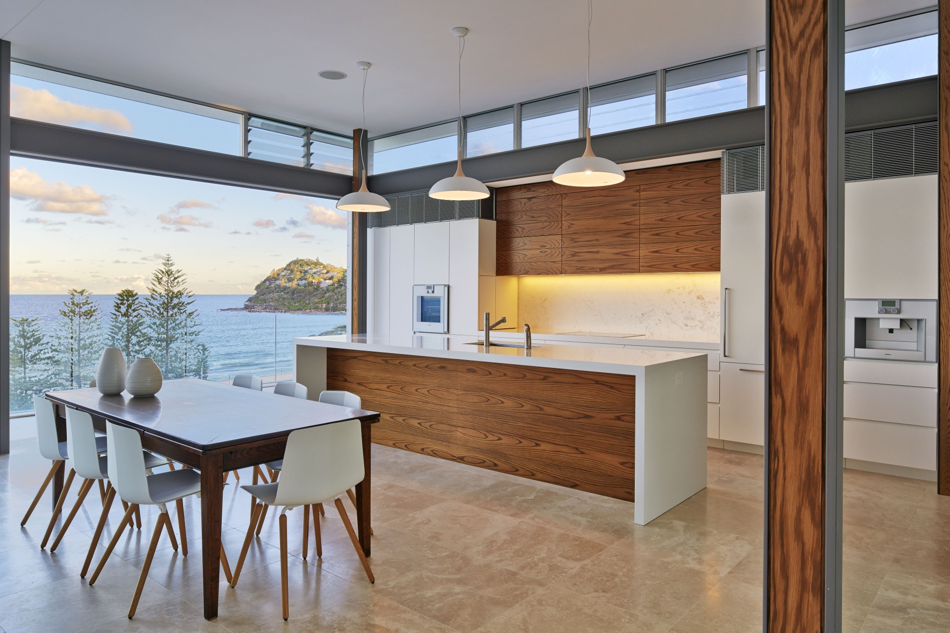 Beach Kitchen Utz Sanby Architects Whale Beach House