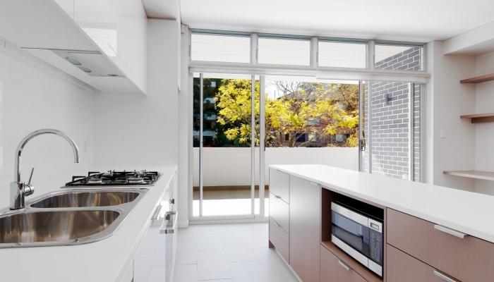 Ellis Street Apartments Kitchen