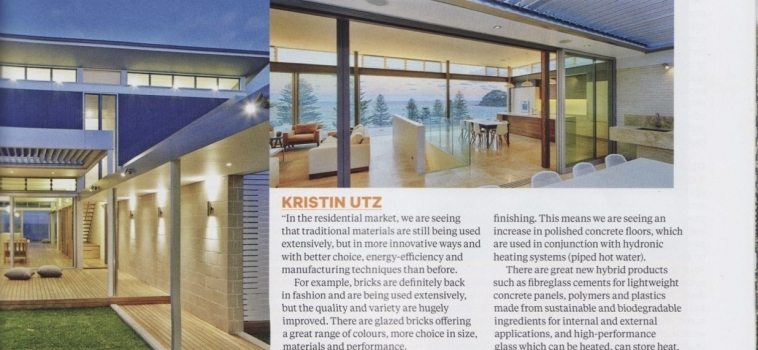 Grand Designs Australia asks Kristin about Sustainable Building