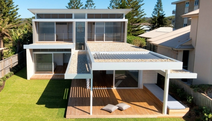 Mona Vale House Exterior, Back, Aerial