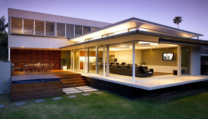 Manly House Exterior, Backyard