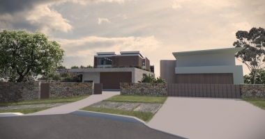 Street render of Mosman house