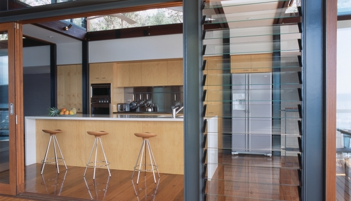 Clareville House Indoor Kitchen to Outdoor Deck